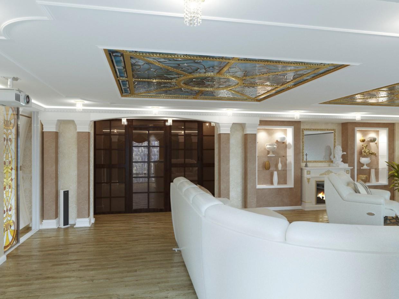 Домашний кинотеатр и спальня в 3d max corona render изображение