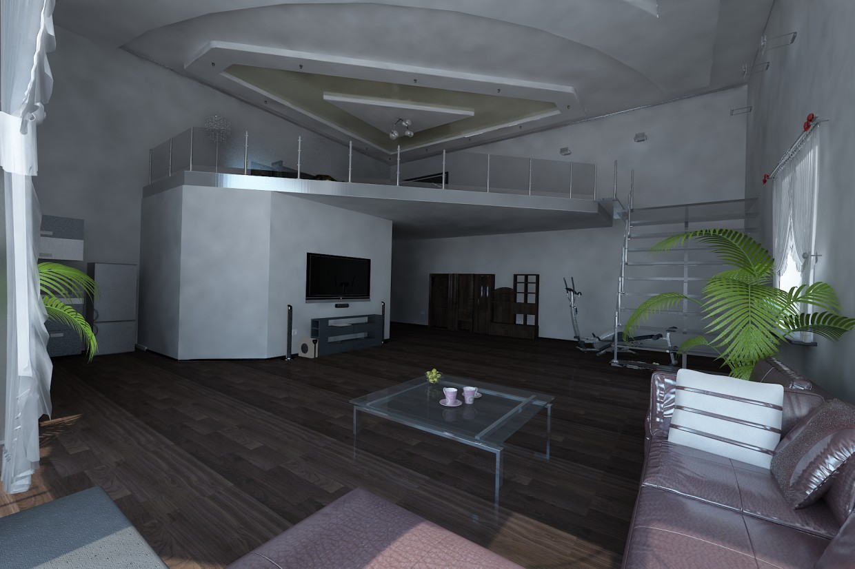 2-storey apartment in 3d max vray image
