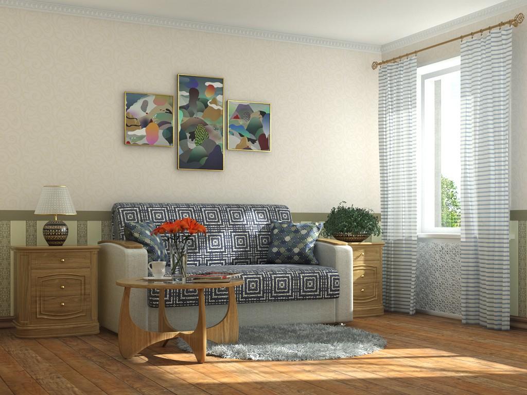 imagen de Sala de en 3d max mental ray