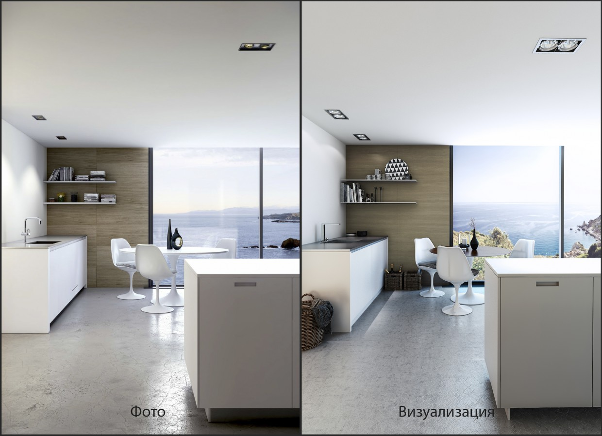 Probe on pictures in 3d max vray image