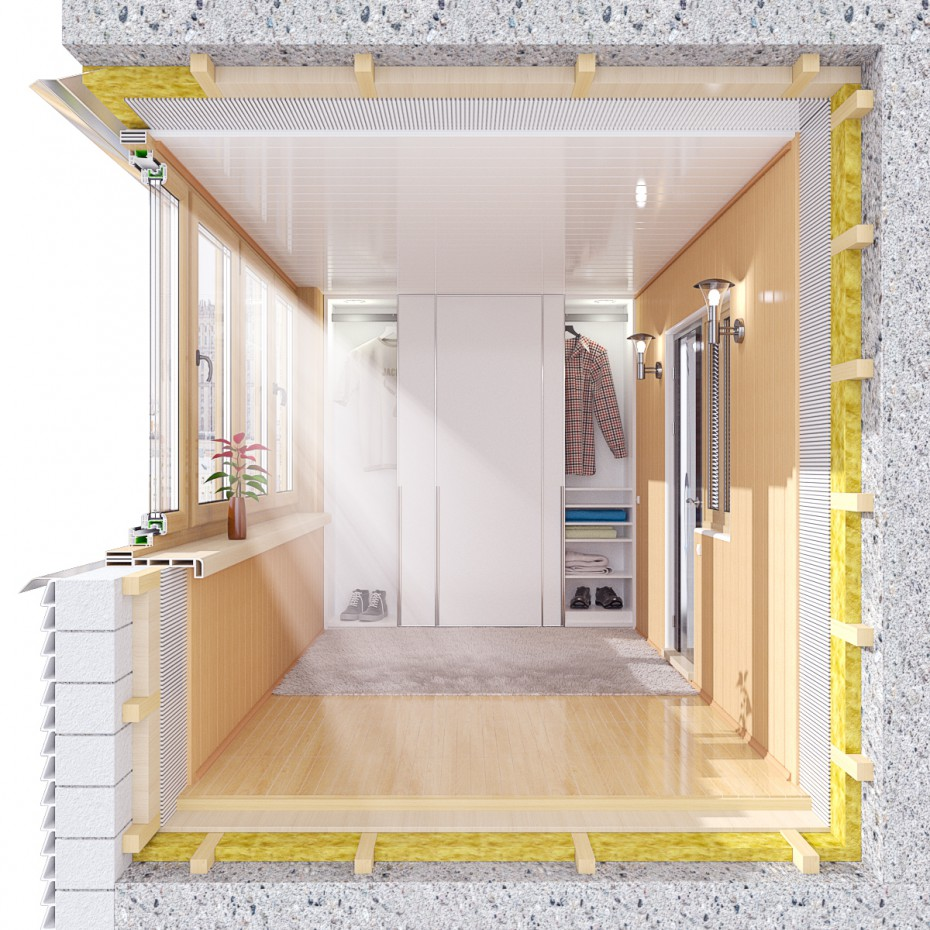 3d візуалізація проекту Лоджії, балкони в розрізі в 3d max, рендер vray від RensiCG