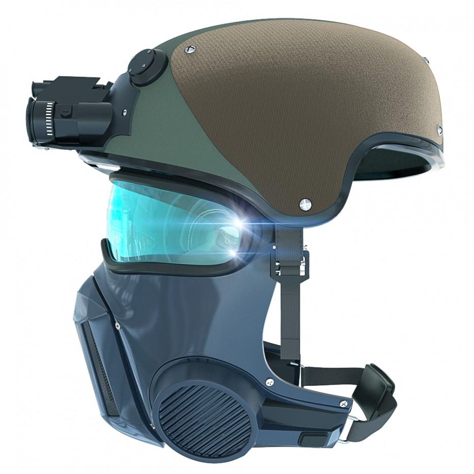 3d визуализация проекта Военный шлем в 3d max, рендер Other от RensiCG