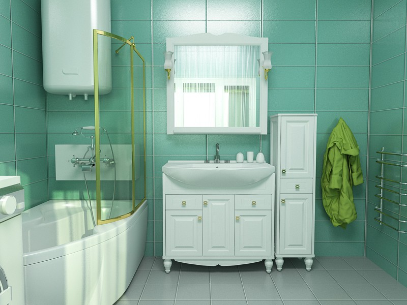 Verona furniture in the bathroom in 3d max vray 3.0 image