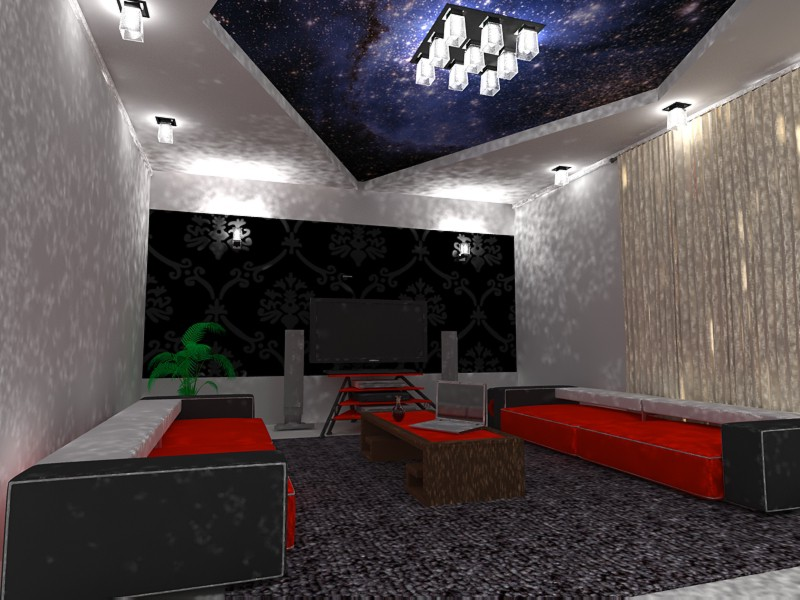 3d visualization of the project in the Living room 3d max, render vray of Ширзат