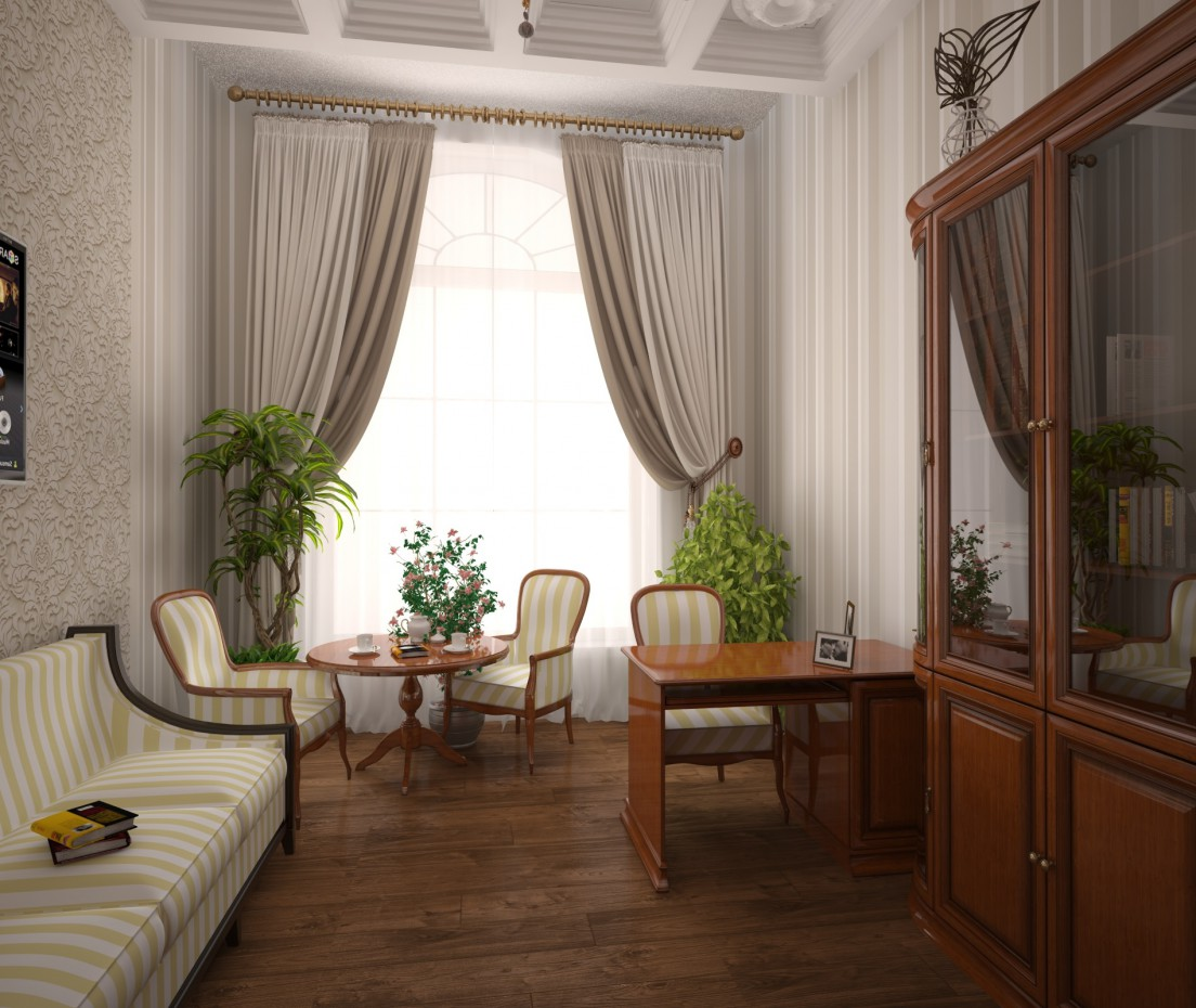The Cabinet in classic style in 3d max vray image
