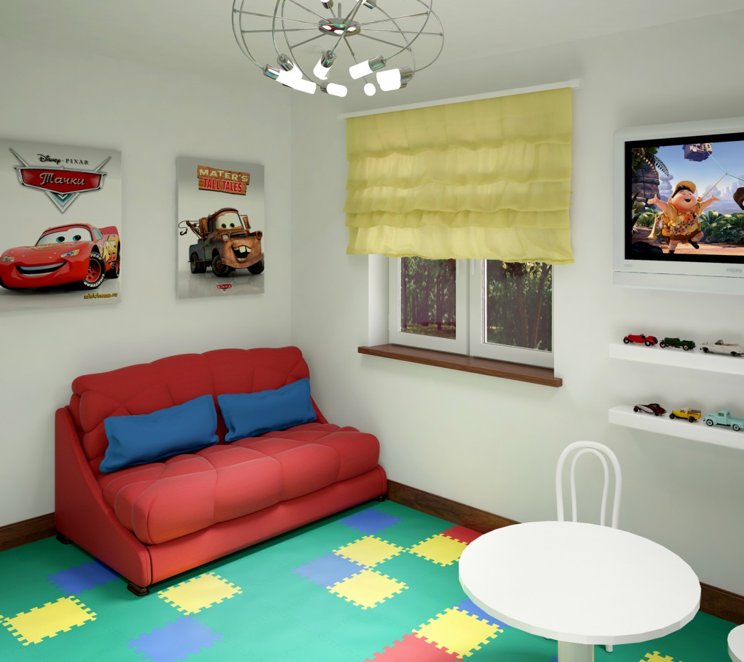 Game room in 3d max vray 3.0 image