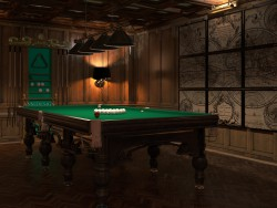 Billiard room in the English style