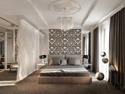 Eklektik tarzı yatak odası