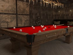 Billiard in the chivalric style