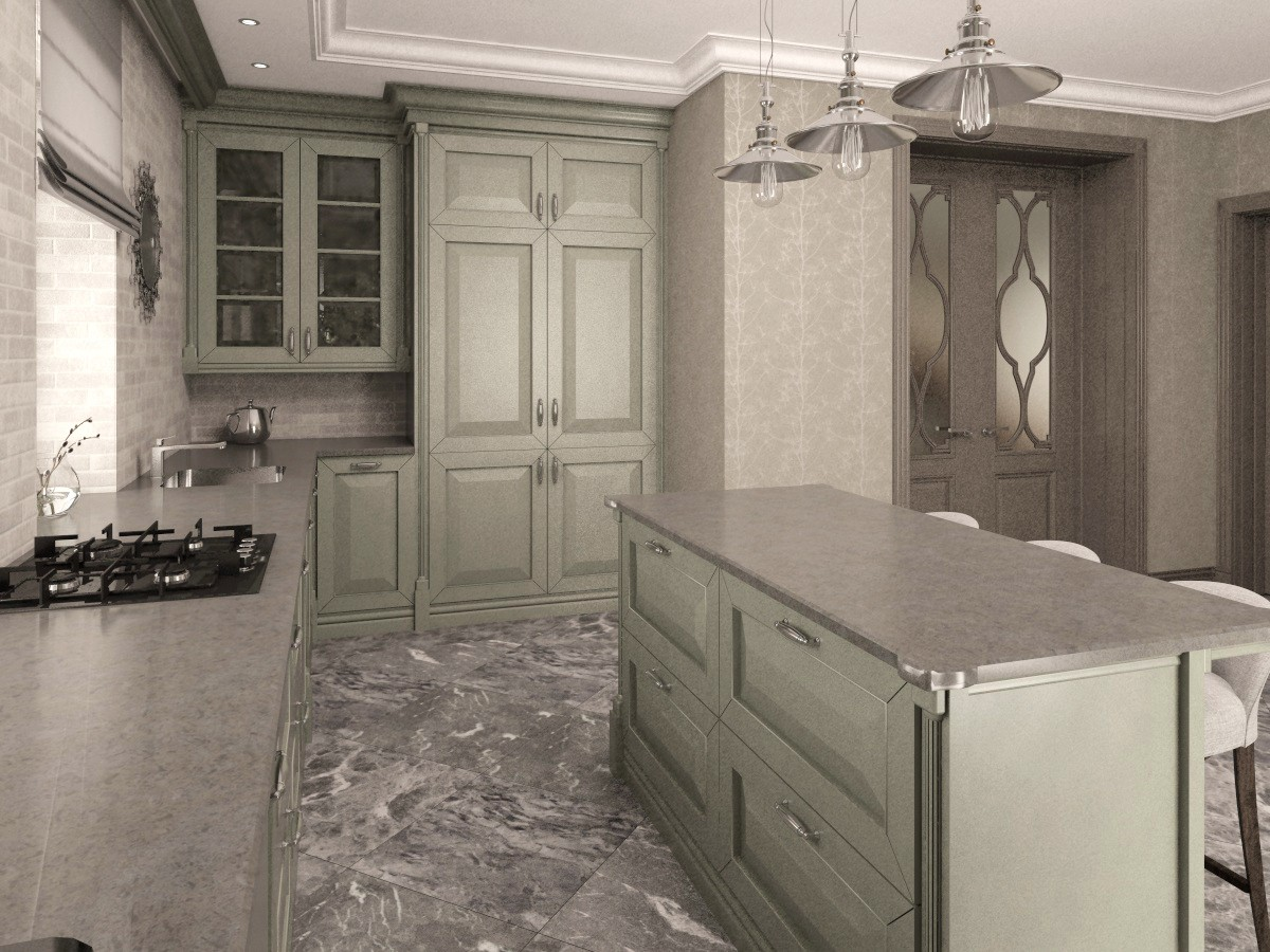 Kitchen for every day) in 3d max vray 3.0 image