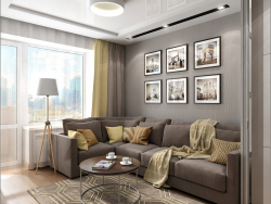 Interior design of a living room in Chernigov