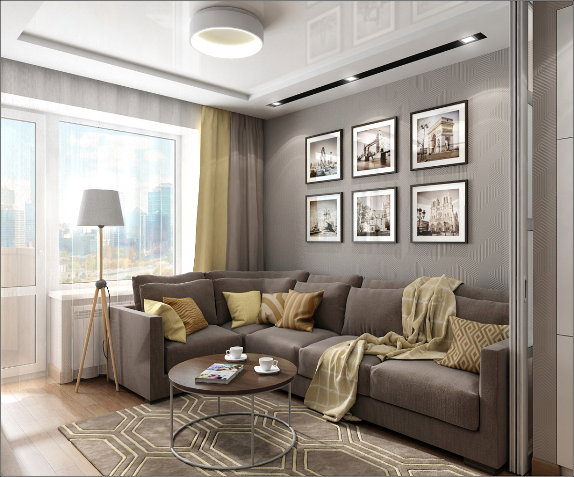Interior design of a living room in Chernigov in 3d max vray 1.5 image
