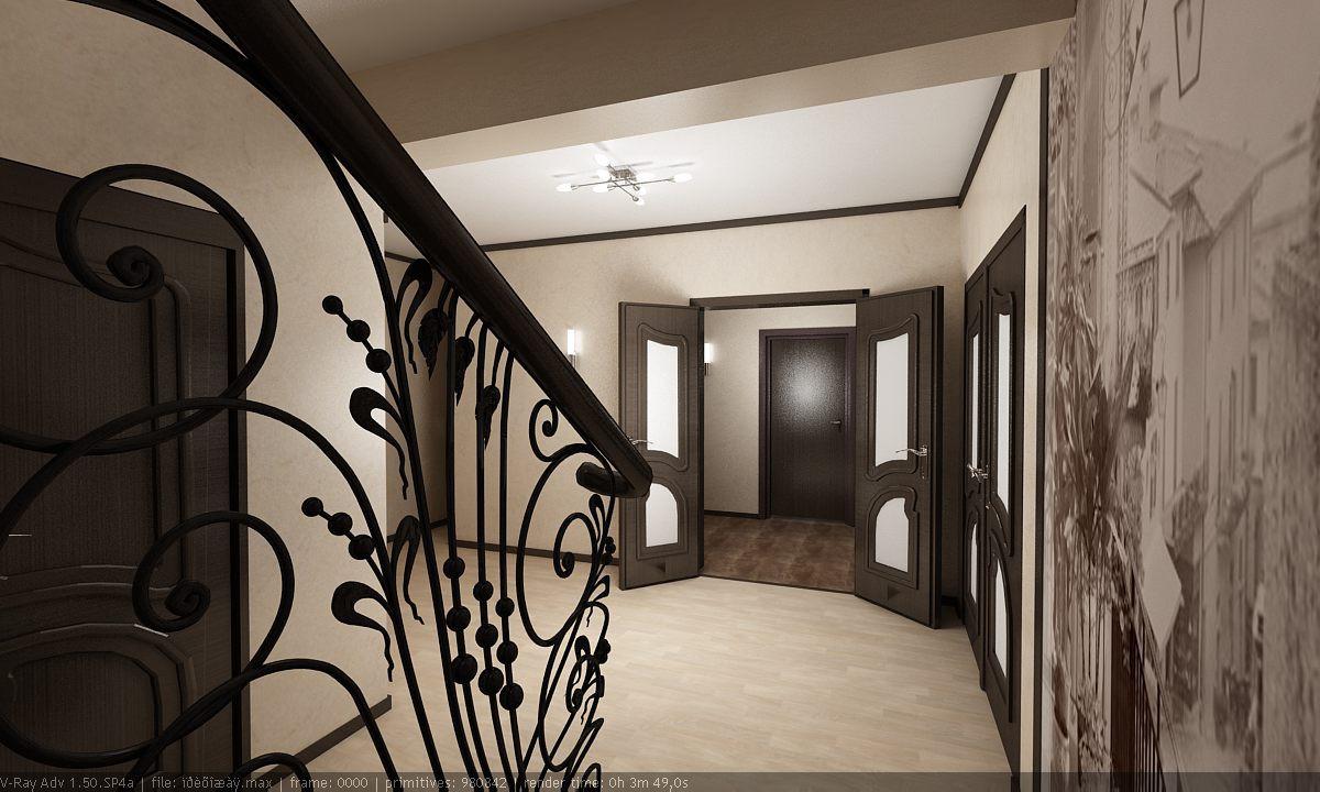 Хол в 3d max vray зображення