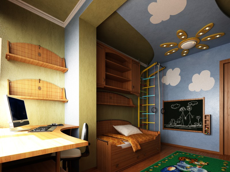 3d visualization of the project in the Nursery 3d max, render vray of Vasilij Starko
