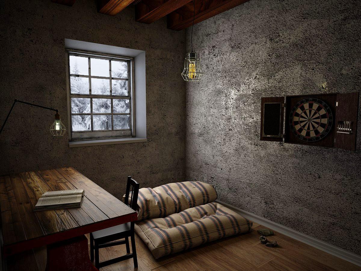 The dark room in 3d max vray 3.0 image