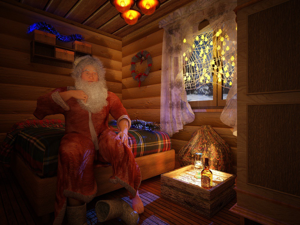 Happy New Year from Nora Asmo в Cinema 4d vray изображение