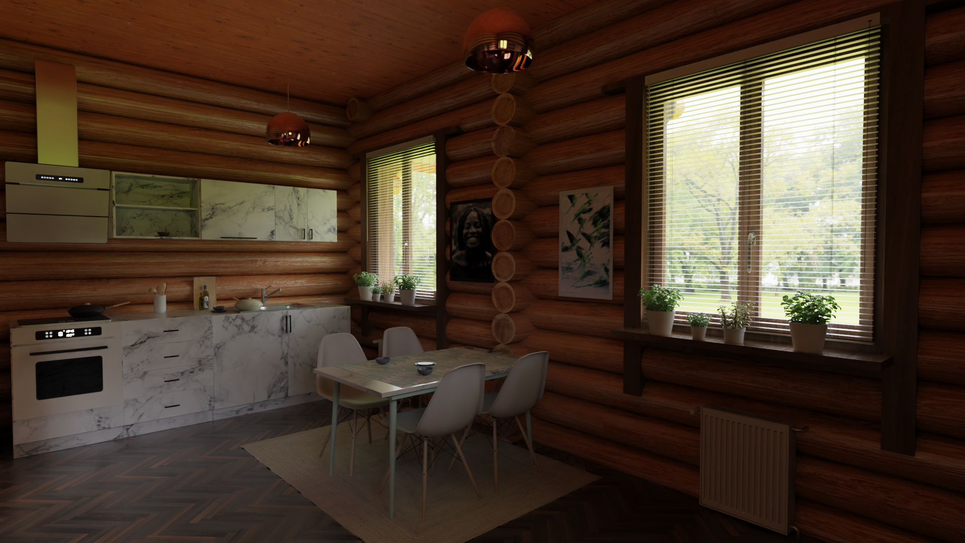 Wooden House in Blender cycles render image