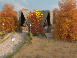 Dome House in Autumn