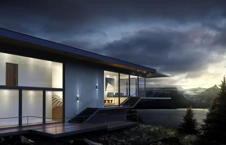 Дом в 3d max vray изображение