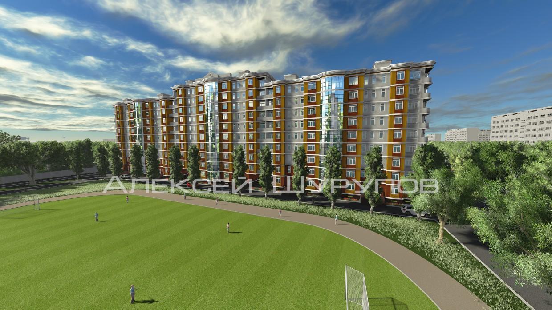 Концепт дома по улице Генерала Коломийца, г. Севастополь в 3d max vray изображение