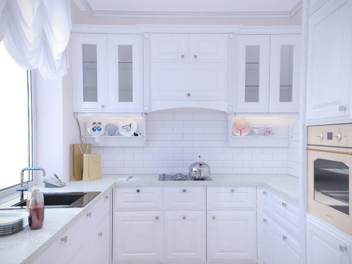visualización 3D del proyecto en el Luz cocina 3d max render vray texni4no