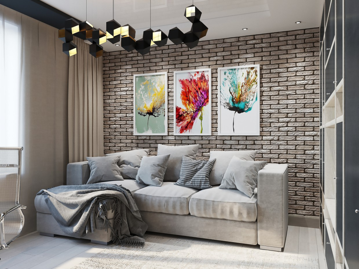 Teen room. in 3d max corona render image