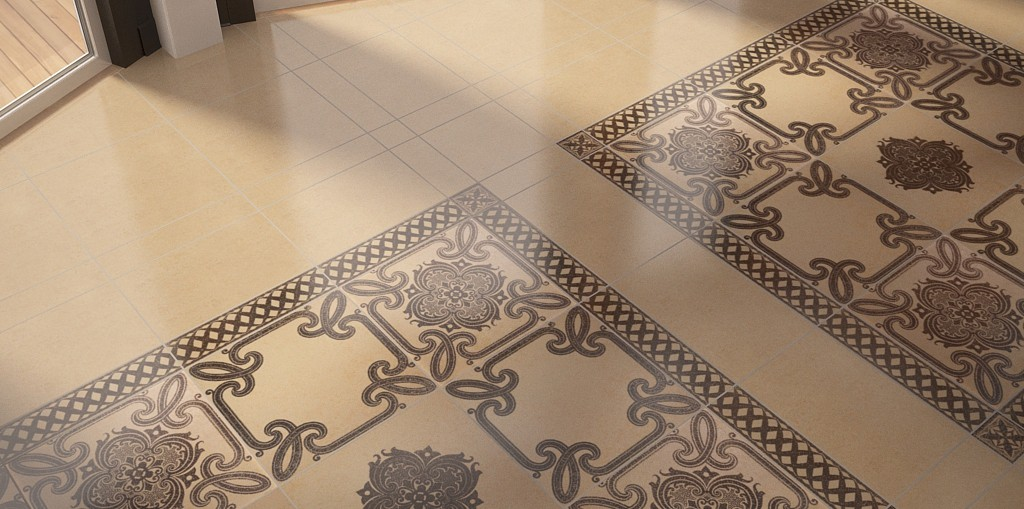 Tile in 3d max vray image
