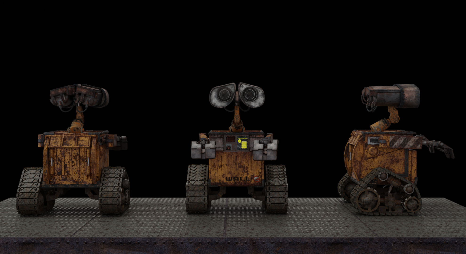 walle Blender cycles render में प्रस्तुत छवि