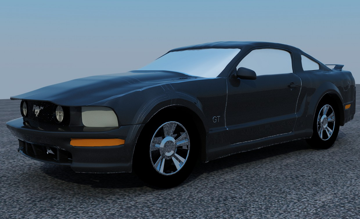 Ford Mustang GT V8 in 3d max vray image