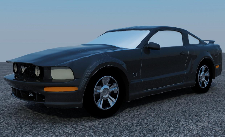 imagen de  Ford Mustang GT V8  en  3d max   vray