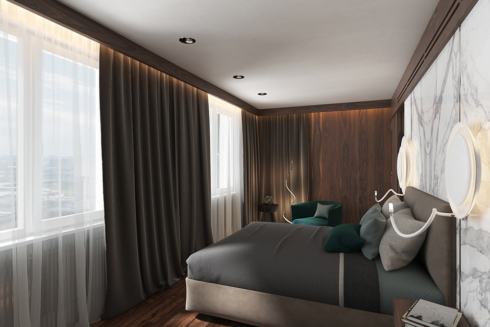 Apartment in modern style in Blender cycles render image