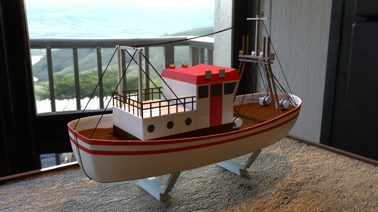 Fishing Boat in Maya vray 3.0 image