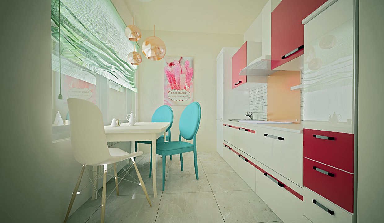 University flat in 3d max vray image