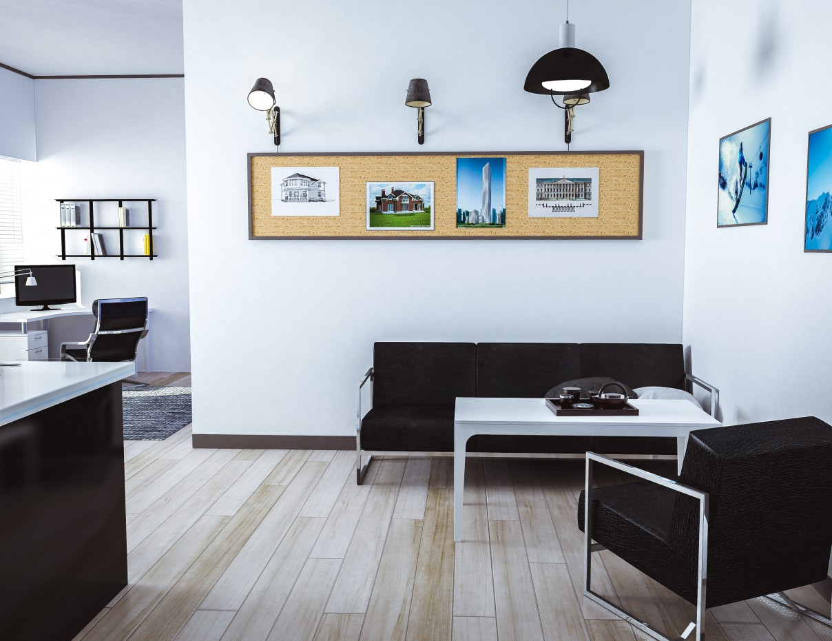 apartment-studio in 3d max vray image