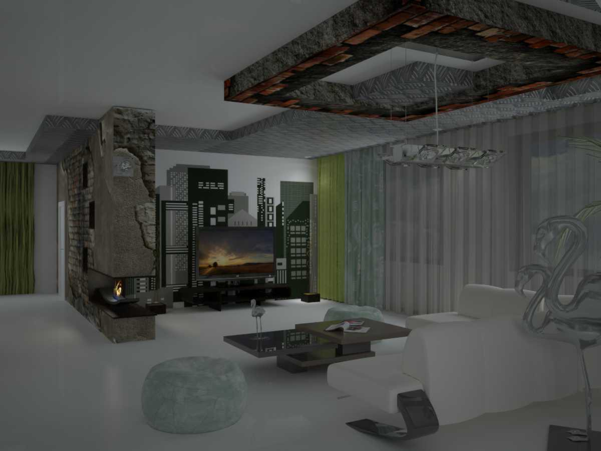 Drawing room in 3d max vray image