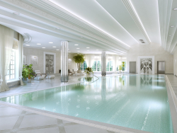Swimming pool in a modern style