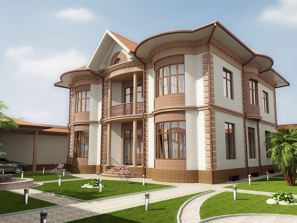 3d visualization of the project in the FASAD 3d max, render vray of ramziddin