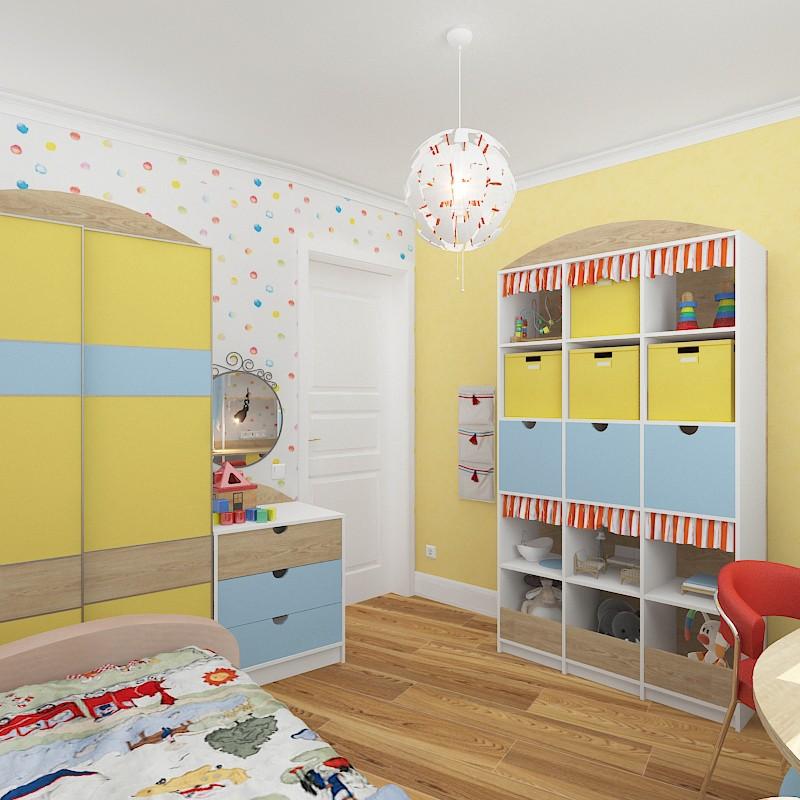 Детская комната девочки в 3d max vray изображение
