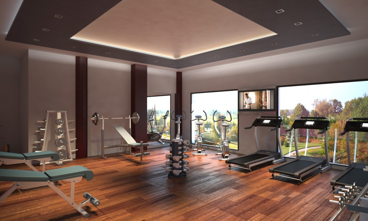 Gimnasio in 3d max vray 2.5 image