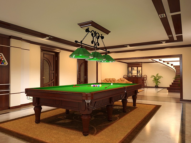 Billiards  in  3d max   vray  image