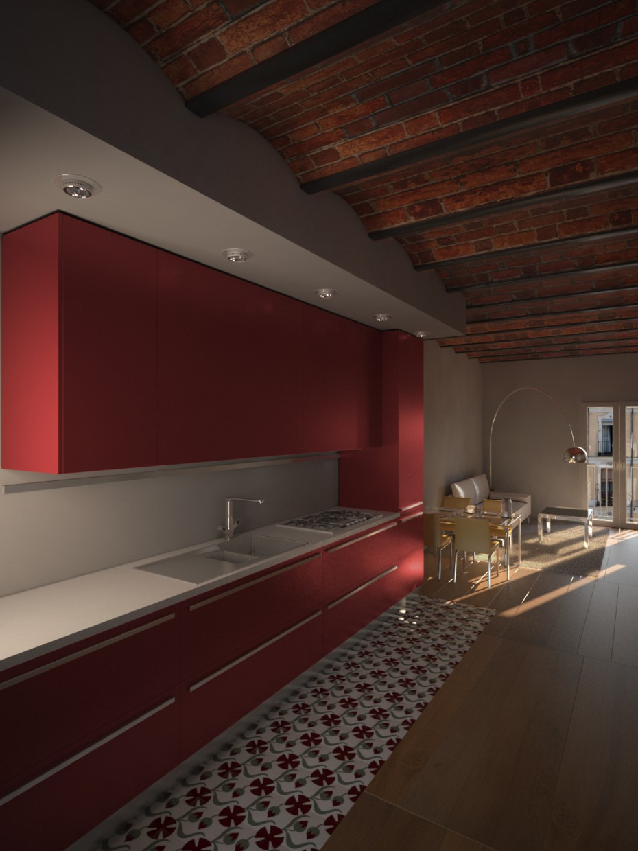3d visualization of the project in the Sardenya 3d max, render vray 2.5 of jabasoft