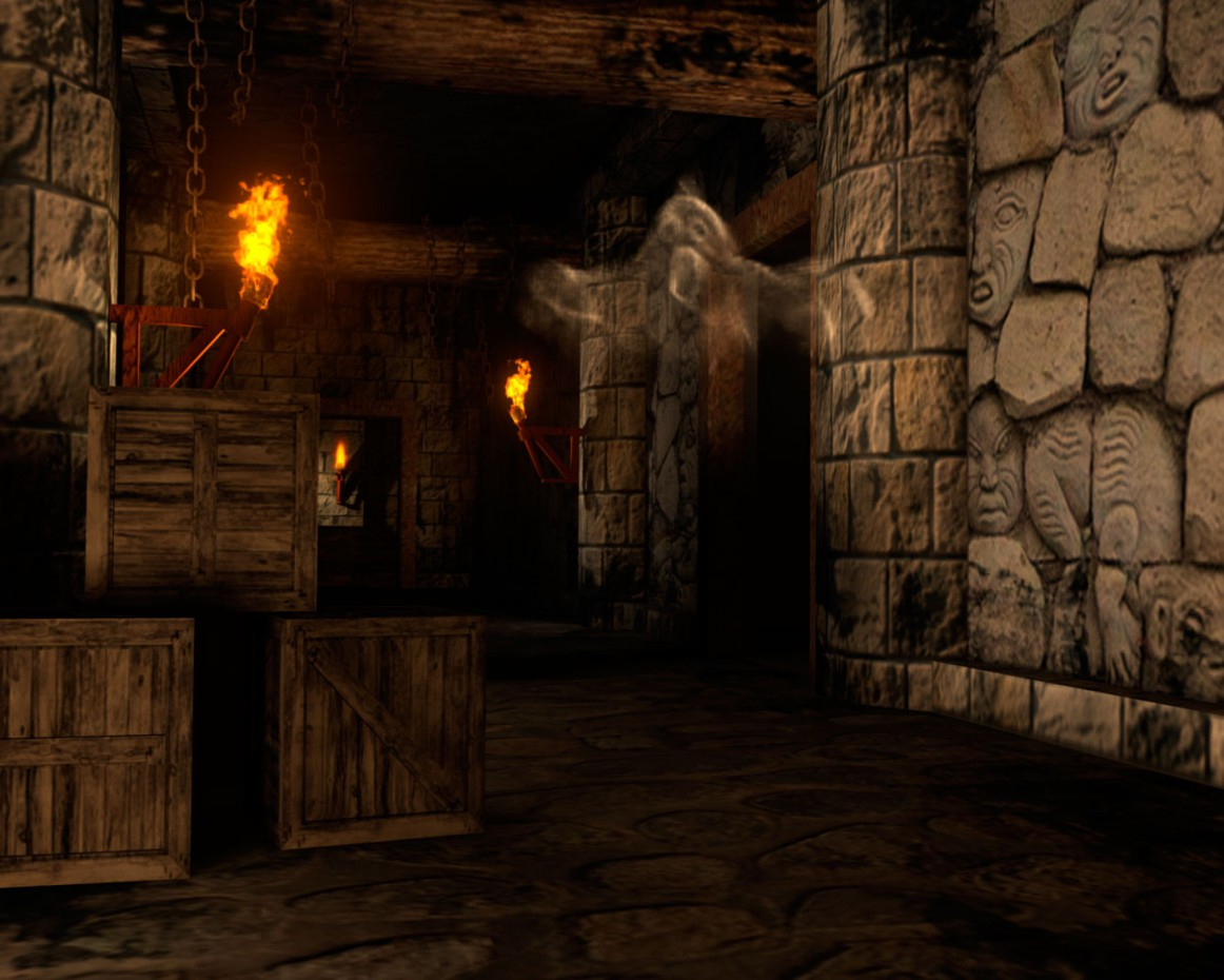 Ghost in the Castle in Maya mental ray image