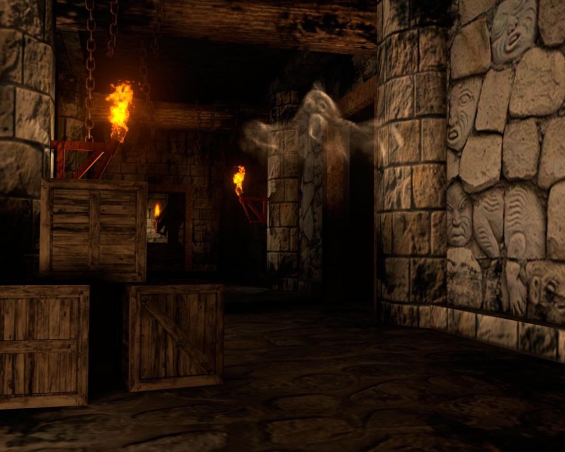 Призрак в замке в Maya mental ray изображение