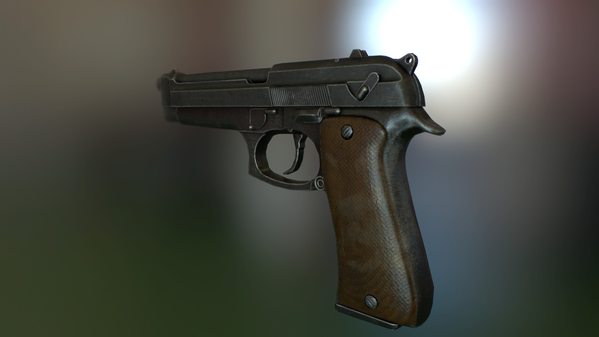 Beretta in 3d max Other image