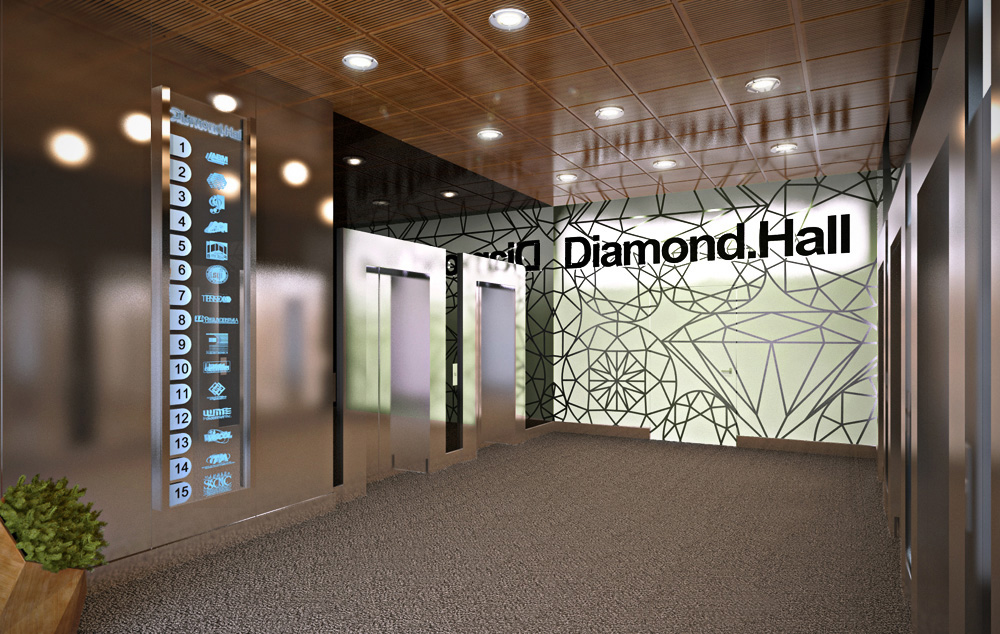 «Diamond Hall» в Blender cycles render зображення