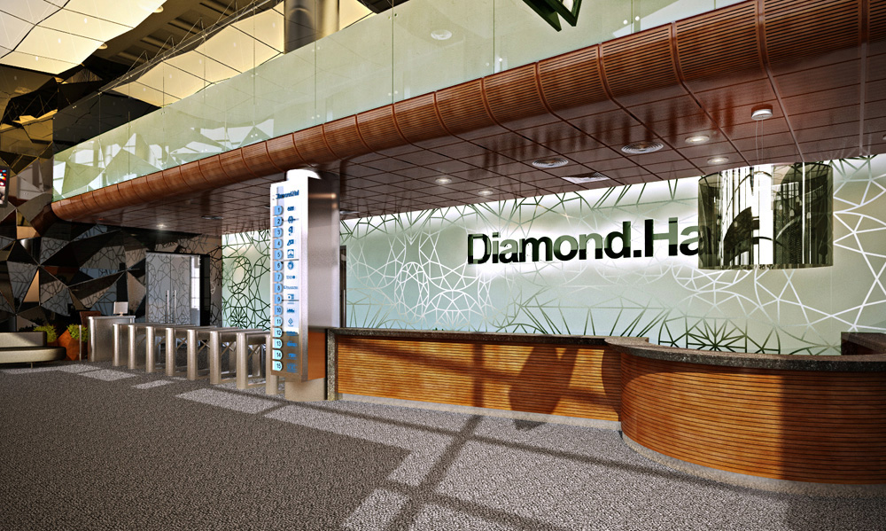 Diamond Hall in Blender cycles render image