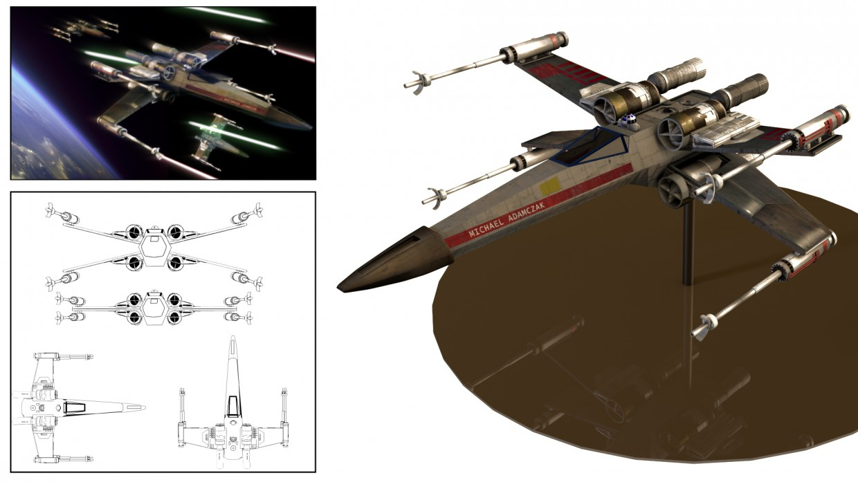 T-65 X-Wing in Cinema 4d Other image