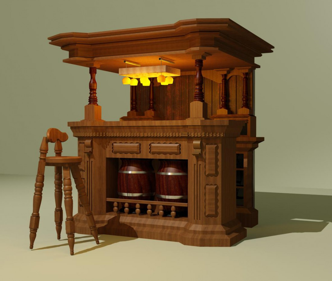 Bar in 3d max vray immagine