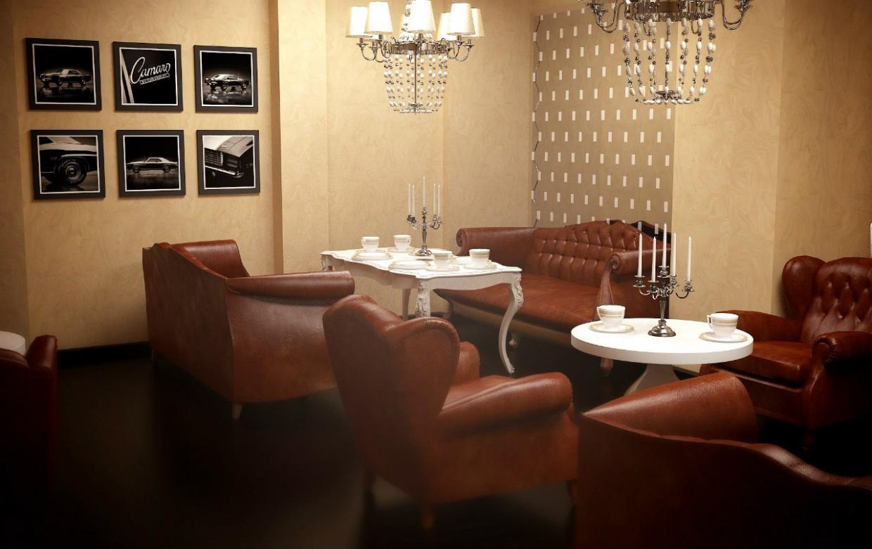 Зал Ресторану в 3d max vray зображення