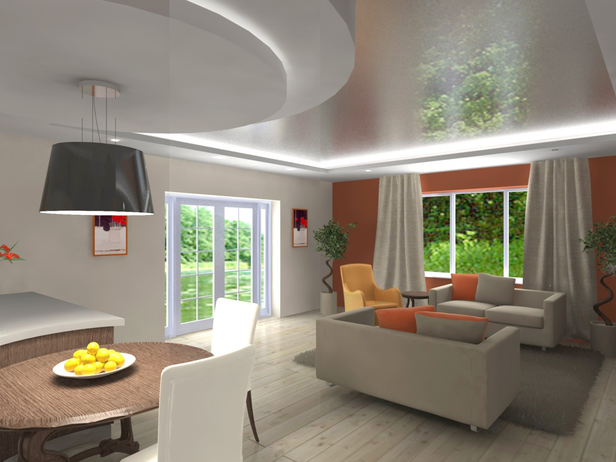 Variant of a living room in 3d max vray image